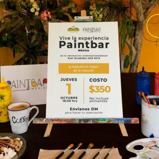 Fusionamos la experiencia #PaintbarMexico con la experiencia culinaria de @ameyalirestaurante 🍽🎨 Así que este jueves deleitemos nuestro paladar y dejemos salir a nuestro artista interior 😊 📅 Jueves 1 ⏰ 4:00 pm 📍 Ameyali Restaurante 🎟 Cupo Limitado $350 por persona (👧🏻👨🏽👴🏽 )