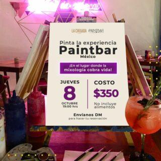 Este jueves nos toca disfrutar de la vida al máximo y escaparnos al lienzo 😍 🎨 ☝🏼 Además de comer todo lo delicioso de @lachuladacumbres, así que los esperamos en otra de nuestras noches #PaintbarMexico 🎉 📅 Jueves 8 ⏰ 7:00 pm 📍 La Chulada Cumbres 🎟 Cupo Limitado $350 por persona (👦🏽👩🏻👴🏽) Haz tu reservación, envíanos un MD